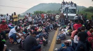 Protesta contra la caravana de migrantes en Tijuana. Video