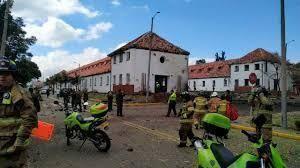 """Attentato alla scuola di polizia""""Santander"""" di Bogotà"""
